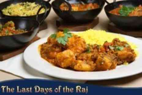 The Last Days of The Raj - Two Course Indian Meal For Two - Save 52%
