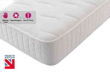 Trusleep - Small single Windsor hybrid memory spring mattress - Save 84%