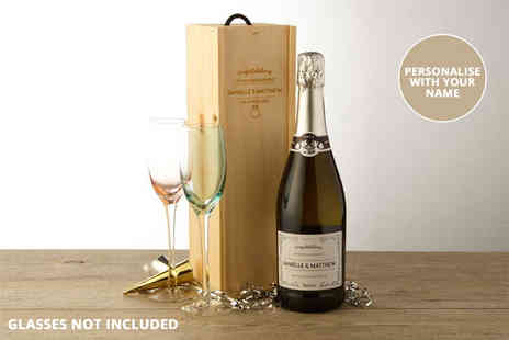 Intervino - Personalised bottle of Prosecco or with for a bottle with a personalised wooden gift box, or include a box of truffles - Save 0%
