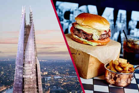 Buyagift - Entrance for two to The View from The Shard plus three course dining and a glass of Prosecco each - Save 0%