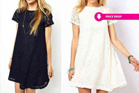 Boni Caro - Lala lace cup sleeve dress - Save 83%
