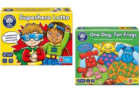 Groupon Goods Global GmbH - Orchant Toys Superhero Lotto or One Dog Ten Frog Games - Save 0%