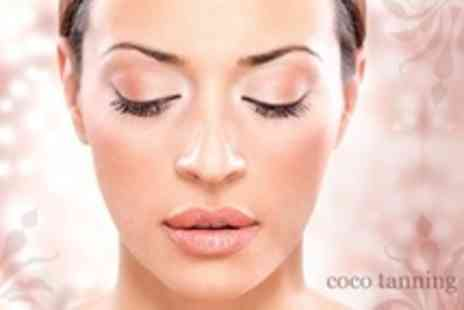 Coco Tanning & Beauty Rooms - Semi Permanent Eyelash Extensions With Eyebrow Shape and Tint - Save 65%