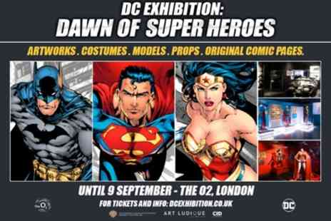 Completely Independent Distribution - One child or adult ticket to DC Exhibition Dawn Of The Super Heroes on 5 June To 9 September - Save 0%