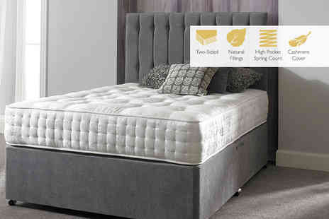 Sleep Express - Cashmere 4600 pocket sprung mattress choose from six sizes - Save 76%