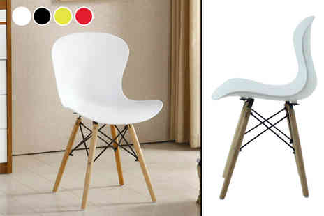 P & N Homewares - Lea chair, chairs or four chairs choose from four colours - Save 54%