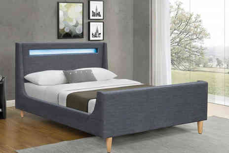Envisage Home - Cavalli LED bed or include a mattress choose from two sizes - Save 78%