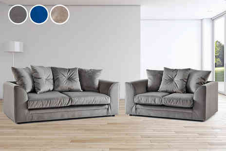 Sofa Club - Angel two and three seater set or corner sofa choose from three colours - Save 31%