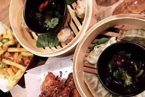 Miss Woos - Asian street food sharing platter and a cocktail each for two or four - Save 63%