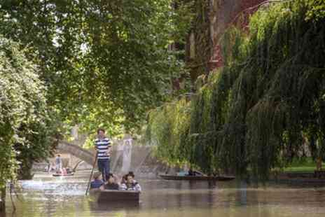 The Cambridge Punting Company - 45 Minute Chauffeur Guided Cambridge Punting Tour for One or Two - Save 35%