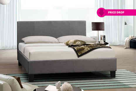 Giomani Designs - Italian designer fabric bed, or upgrade to include a memory foam mattress - Save 85%