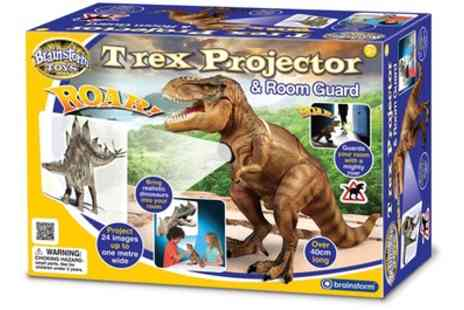 Groupon Goods Global GmbH - One or Two Brainstorm T Rex Projectors and Room Guards - Save 18%
