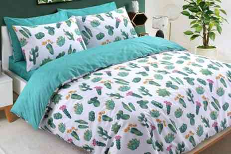 Groupon Goods Global GmbH - Pieridae Parrot Party or Cactus Duvet Set - Save 69%