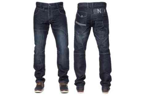 Groupon Goods Global GmbH - Enzo Jeans Dark Stonewash Mens Trousers - Save 26%