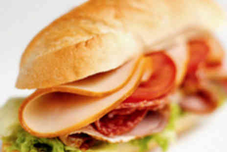 Baguette Express - Two Baguettes, Two Teas or Coffees, and Two Cakes - Save 50%