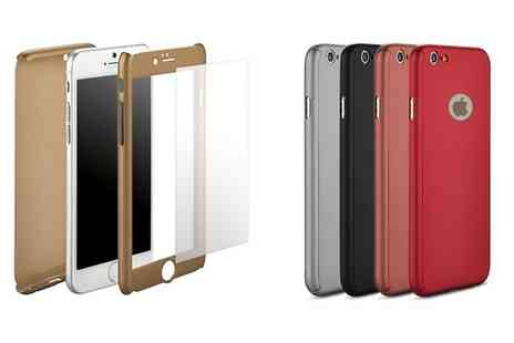 Groupon Goods Global GmbH - Full Body Thin Acrylic Case with Integrated Tempered Glass for iPhone 6 And 6 Plus - Save 0%