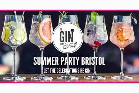The Gin To My Tonic - Two tickets to The Gin to My Tonic Summer Party - Save 50%