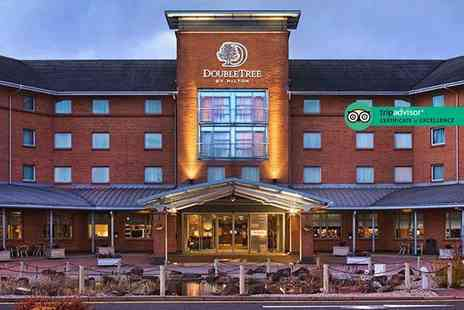 DoubleTree by Hilton Hotel - Overnight stay for two people with a bottle of Prosecco on arrival, a two course dinner, leisure access and breakfast - Save 56%