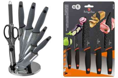 Groupon Goods Global GmbH - Berlinger Haus Five or Eight Piece Knife Set with Optional Acrylic Stand - Save 0%