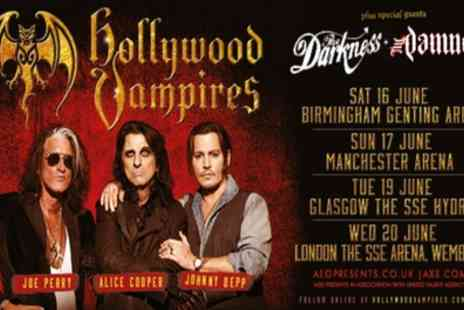 Hollywood Vampires - One Price Level 2 seated ticket to see Hollywood Vampires on 16 June in Birmingham, 17 June in Manchester, 19 June in Glasgow, 20 June in London - Save 49%
