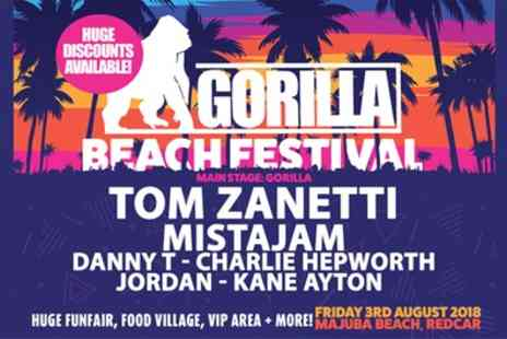 Get Loose Event Management - One, two or four general admission or VIP tickets to Gorilla Beach Festival on 3 August - Save 30%