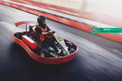 Full Throttle Raceway - 25 lap go karting experience for one or two - Save 0%