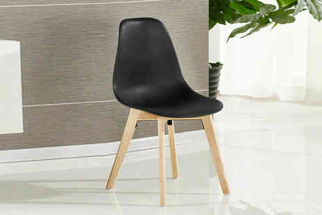 P & N Homewares - One, two or four black Solna dining chair - Save 58%
