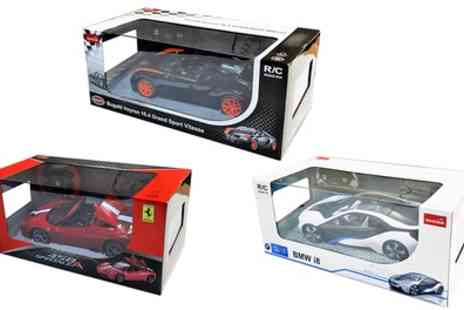 Groupon Goods Global GmbH - Rastar BMW i8, Ferrari 458 Speciale A or Bugatti Veyron Remote Control Cars - Save 56%