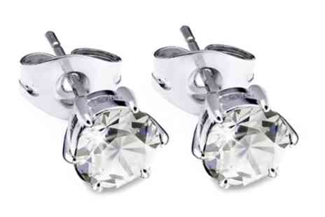 Groupon Goods Global GmbH - Crystal Stud Earrings Made with Crystals from Swarovski - Save 90%