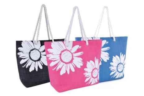 Groupon Goods Global GmbH - Flower Print Rope Handle Bag in Choice of Colour - Save 67%