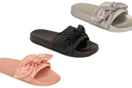 Groupon Goods Global GmbH - Womens Slip On Sliders with Bow Detail - Save 0%