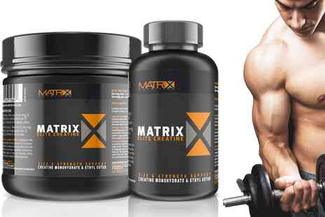 Groupon Goods Global GmbH - 240, 500 or 740 Matrix Elite Creatine Tablets - Save 0%