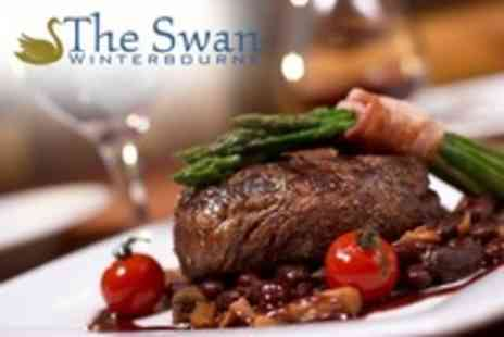 The Swan Winterbourne - Two Course Pub Meal With Choices of Pheasant, Venison And Steak With Drink For Two - Save 56%