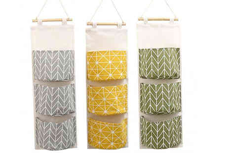 HXT Goods - Hanging Patterned Material Storage Bag Choose 3 Colours - Save 65%