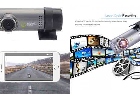 HXT Goods - 1080P WIFI Mini Dash Cam Camera & Video Recorder With G Sensor - Save 71%