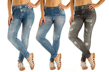 SARL Blue Skys - Three pack of ripped look jeggings - Save 71%