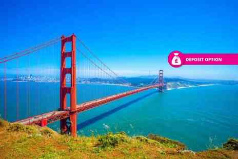 Crystal Travel - Eight night getaway with three nights in New York, two nights in San Francisco and three nights in Las Vegas with return flights - Save 44%