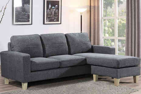 IT Ideas - L Shaped Corner Sofa choose from two colours - Save 47%