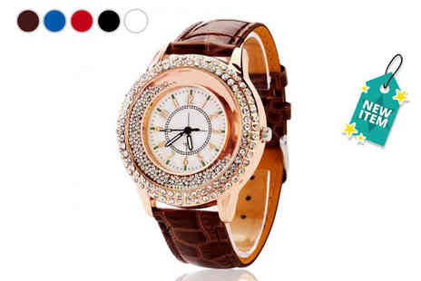 Yepko - Rose gold quicksand watch - Save 80%