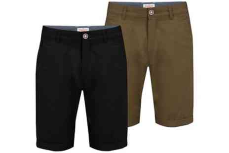 Groupon Goods Global GmbH - Two Stallion Summer Holiday Chino Shorts in Choice of Colour - Save 33%