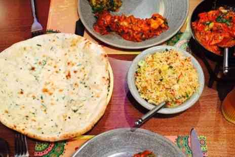Jalfrezi Stoke - Two Course Indian Meal with Sides for Two or Four - Save 56%