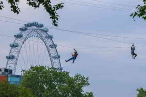 Zip Now London - Zip Wire Experience for Three - Save 35%
