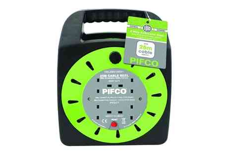 Groupon Goods Global GmbH - Pifco 25m Four Way Cable Extension Reel - Save 0%
