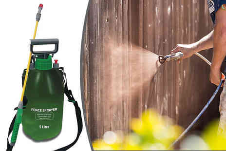 Direct 2 public - Five litre garden fence and weed pressure sprayer - Save 72%
