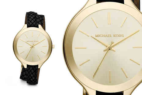 Mimo Deals - Ladies Michael Kors MK2617 Runway Champagne Dial watch - Save 56%