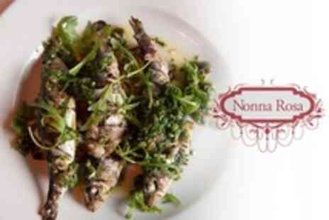 Nonna Rosa - Three Course a la Carte Meal For Two With Cocktail Each - Save 57%