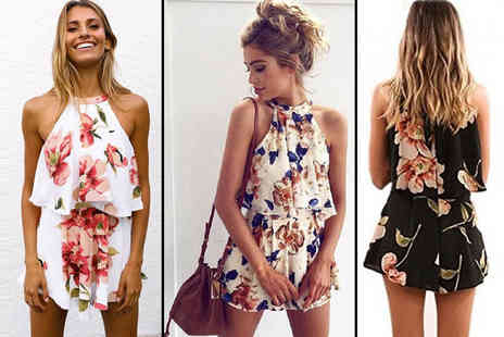 Blu Fish - Floral two piece playsuit - Save 78%