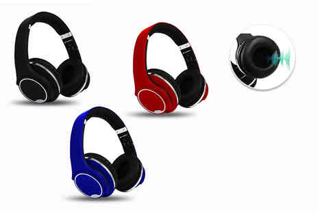 Some More - Pair of Bluetooth over ear headphones choose from three colours - Save 66%