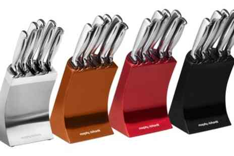 Groupon Goods Global GmbH - Morphy Richards Accents Five Piece Knife Block Set - Save 66%