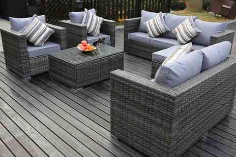 Groupon Goods Global GmbH - Yakoe Vancouver Five or Eight Seater Rattan Effect Garden Furniture Sets With Free Delivery - Save 0%